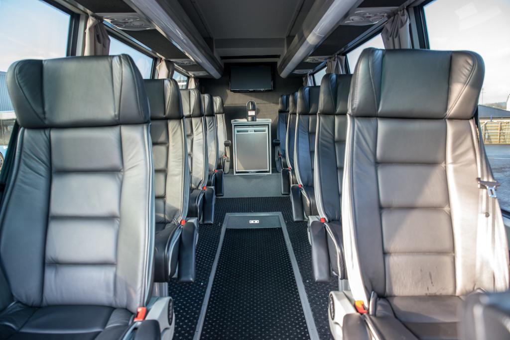 Interiör 10-platsers buss