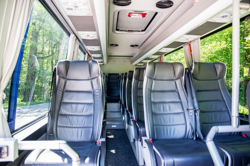 Interiör 19-platsers buss